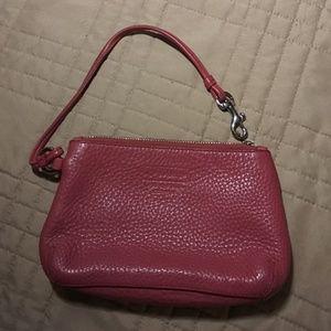 SUPER CUTE Pink Leather COACH Mini PURSE